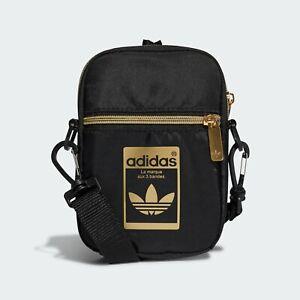 Adidas Originals Festival Bags Messenger Shoulder Cross Bag Black/Gold GF3199