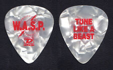 W.A.S.P. Wasp Tune Like A Beast White Pearl Guitar Pick - 2004 Neon God Tour