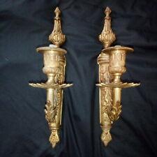 Pair French Bronze Style Louis XVI IN Électrifier