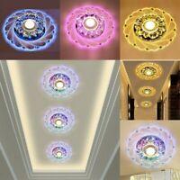 Modern Crystal LED Ceiling Light Fixture Aisle Hallway Pendant Lamp Chandelier L