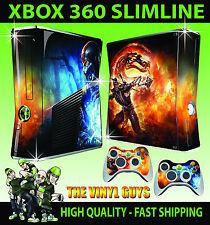 XBOX 360 SLIM scorpion sub ZERO Mortal Kombat nueva consola de la piel y 2 Pad Skins
