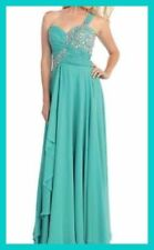 May Queen Mint Green Sequin Beaded Sweetheart Prom Gown Sz 4 Retails $295