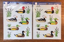 Vintage Decal Ducks 1986 Decorcal Hand Painted Effect lot of 2 Nip A-69