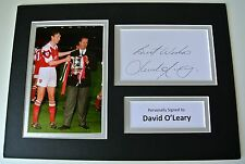 David O'Leary SIGNED autograph A4 Photo Mount Display Arsenal Football COA