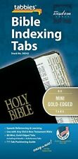 Old and New Testament 80 Mini Gold-Edged Bible Indexing Index Tabs Book