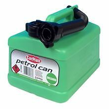 5L 5 Litre Plastic Jerry Can Fuel Unleaded Green Pouring Spout Petrol Container