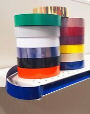 Decorative Gondola Shelving Vinyl Inserts Blue 130 ft x 1.25 in