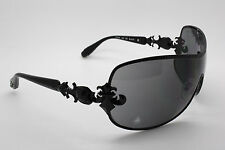 Affliction Fiona Black / Gray Shield Style Sunglasses 100% UV Protection
