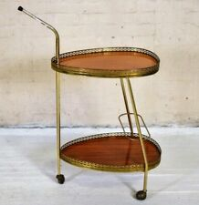 Vintage European Two Tier Bar Cart MCM