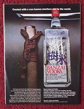 1981 Print Ad Old Suntory Japanese Banzai Vodka ~ Creating The Samurai Sword
