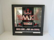 TAAKA Genuine Vodka Advertising Framed Sign Mirror Mixes Easy...Just Add People