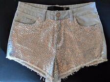"WOMEN'S SHORTS FACTORIE DISTRESSED STRETCH MINI SIZE 10/28"" NWOT FREE POSTAGE"