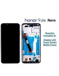 LCD DISPLAY TOUCH SCREEN SCHERMO HUAWEI HONOR 9 LITE LLD-L31 AL00 NERO