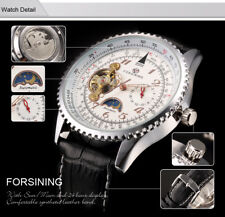"FORSINING ""NAVITIMER"" STYLE AUTOMATIC W/ AVIATION SLIDE RULE - BLACK CASE/BEZEL"