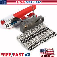 Coaxial Compression RG Connector Stripper For RG6 RG59 Coax Cable Crimper USA