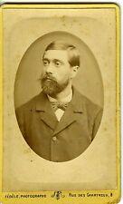 PHOTOGRAPHIE FEDELE MARSEILLE UN HOMME POSE BARBE CARTE DE VISITE CDV PHOTO 1880