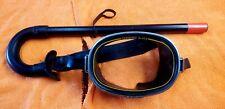 Vintage Montego Scuba Diving Tempered Lens Mask With Kinugawa Dacor Snorkel