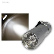 mini-led-taschenlampe 9 Blanco 5mm LEDs Aluminio Plata taschlampe Torch