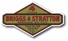 "Vintage Briggs & Stratton Gasoline Oil Small Engine 5"" X 3"" sticker decal"