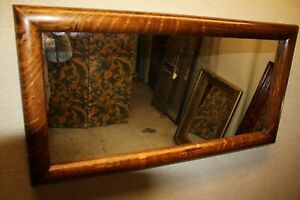 19th Century Large Arts & Crafts  Rectangular Oak Mirror