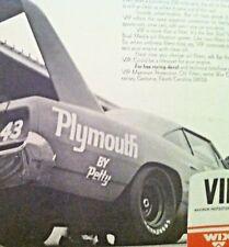 1970 Superbird Roadrunner Hemi Richard Petty #43 NASCAR Wix Plymouth MOPAR ad