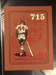 Hank Aaron Babe Ruth Methane Studios Poster Print Yankees Homerun Signed #/120