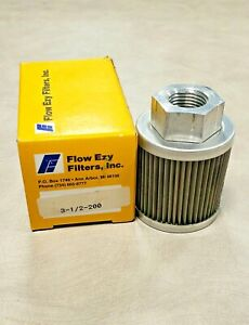 Flow Ezy 3-1/2-200 Trans Oil Filter / Metal Suction Strainer (Fluitek FSN031802)