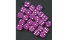 6  12MM CHX25827 LIGHTT PURPLE /WHITE D6 DICE WARHAMMER 40K NECROMUNDA