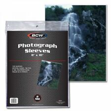 1 Pack 100 Bcw 8x10 Photo Soft Poly Sleeves Acid Free Print Holder