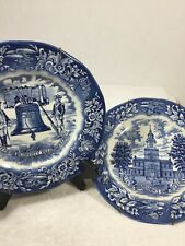 Avon Bicentennial Collector Plates 1976 Lot of 2 Liberty Bell &Independence Hall
