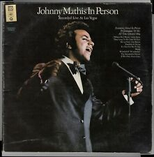 JOHNNY MATHIS - IN PERSON - LP QUADRAPHONIC GQ 30979 recorded live at Las Vegas
