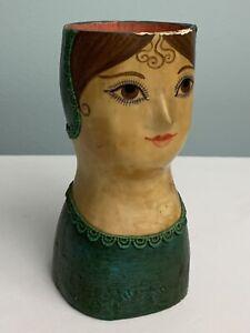 Gemma Taccogna Fred Sexton Open Top Doll Papier Mache Bust 1960's Signed Art