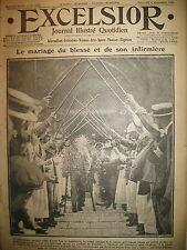 WW1 N° 2122 MARIAGE U.K. TSAR ARMéE RUSSIE SHACKLETON JOURNAL EXCELSIOR 1916