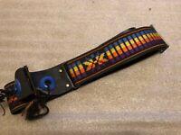 VTG 1960's ACE Guitar Shoulder Neck Strap Multi Colored Zeppelin Page Woodstock