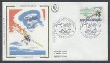 FRANCE FDC - 2544 2 ROLAND GARROS AVION - ST DENIS 2 Juillet 1988 -LUXE sur soie