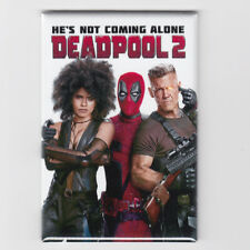 """DEADPOOL 2 / HE'S NOT COMING ALONE - 2""""x3"""" MOVIE POSTER MAGNET (marvel 2018)"""