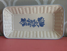 Pfaltzgraff Yorktowne  Weave Bastket Bread Serving Tray Plate Dish