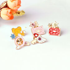 Anime Card Captor Sakura Star Wand Key Enamel Badge Pin Metal Brooth 5pcs