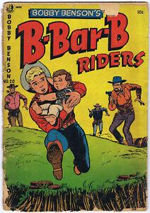 BOBBY BENSON'S B-BAR-B RIDERS 20 A-1 88 Magazine Enterprises 1953 Cowboy Western