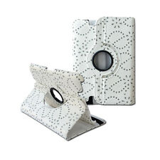 """360 Rotating Crystal Flower Folio Cover Leather Case Stand for Kindle Fire HD 7"""""""
