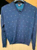 Vintage Robert Bruce V Neck Sweater; Mens XL; Made In USA; Biggie Cosby Style