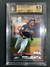 2017 Ronald Acuna Bowman Chrome Draft #BDC39 BGS 9.5 Gem MT