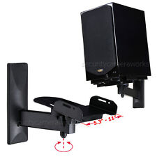 2x Heavy Duty Surround Sound Bookshelf Speaker Wall Mount Side Clamp Bracket BGS