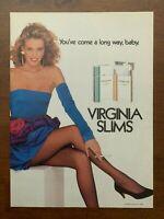 1988 Virginia Slims Cigarettes Vintage Print Ad/Poster Pop Art Decor