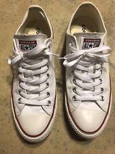 Men's White Converse Shoes Size 9