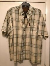 ClearWater Outfitters Men's XL Striped Shirt Teakwood Button Front Short Sleeves