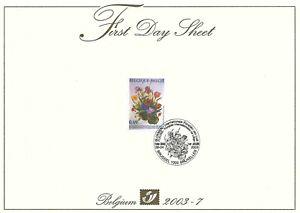 [FDS98] Belgium FDS 2003-7 Flowers First Day Sheet SUPERB