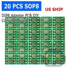 20pcs SOP8 SO8 SOIC8 TSSOP8 MSOP8 to DIP8 Adapter PCB DIY Conveter Board new N65