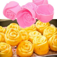 10x Silicone Rose Muffin Cookie Cupcake Cuisson Moule Gelée Fabriquant Neuf