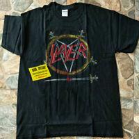 Vintage SLAYER HELL AWAITS Tour Concert Shirt 1985 Thrash Metal Band BNWT GILDAN
